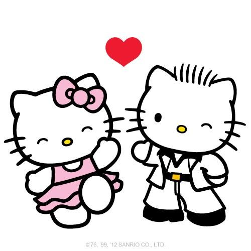 Happy Valentine Day Hello Kitty Art Hello Kitty Pictures Hello Kitty Wallpaper