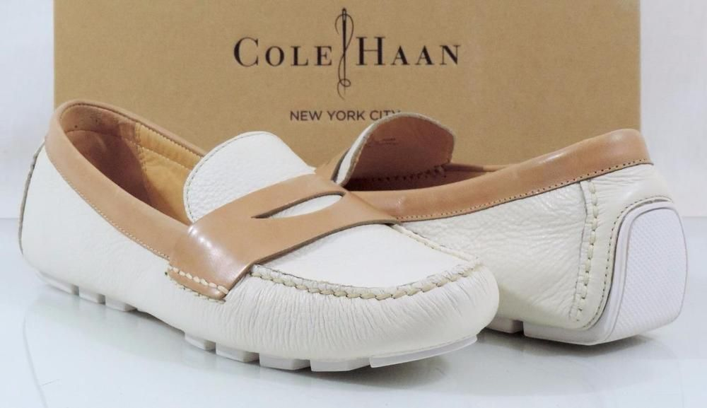 a7016306fc4 Women s Cole Haan AIR SADIE DRIVER Penny Loafer Leather Ivory Sandstone  Size 9.5  ColeHaan  LoafersMoccasins  Casual