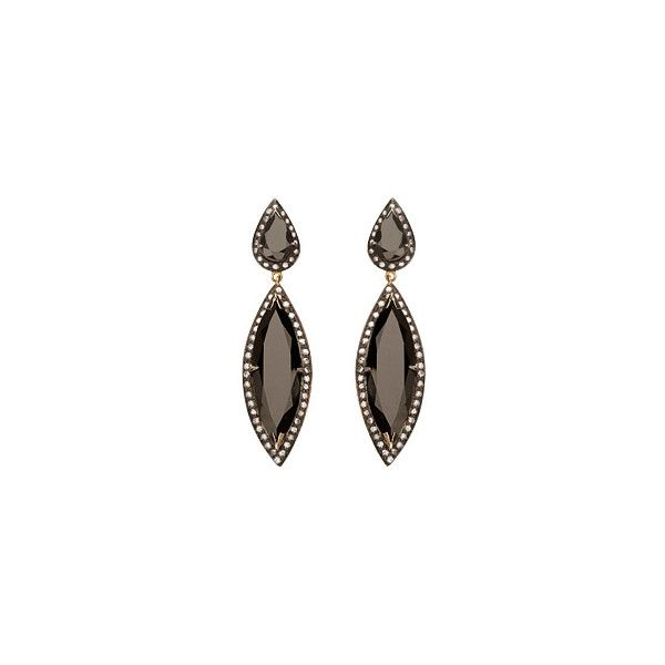 Hari Jewels Onyx Dangling Earrings (10.653.065 IDR) ❤ liked on Polyvore featuring jewelry, earrings, accessories, brincos, kolczyki, dangle earrings, long earrings, onyx earrings, onyx dangle earrings and earring jewelry