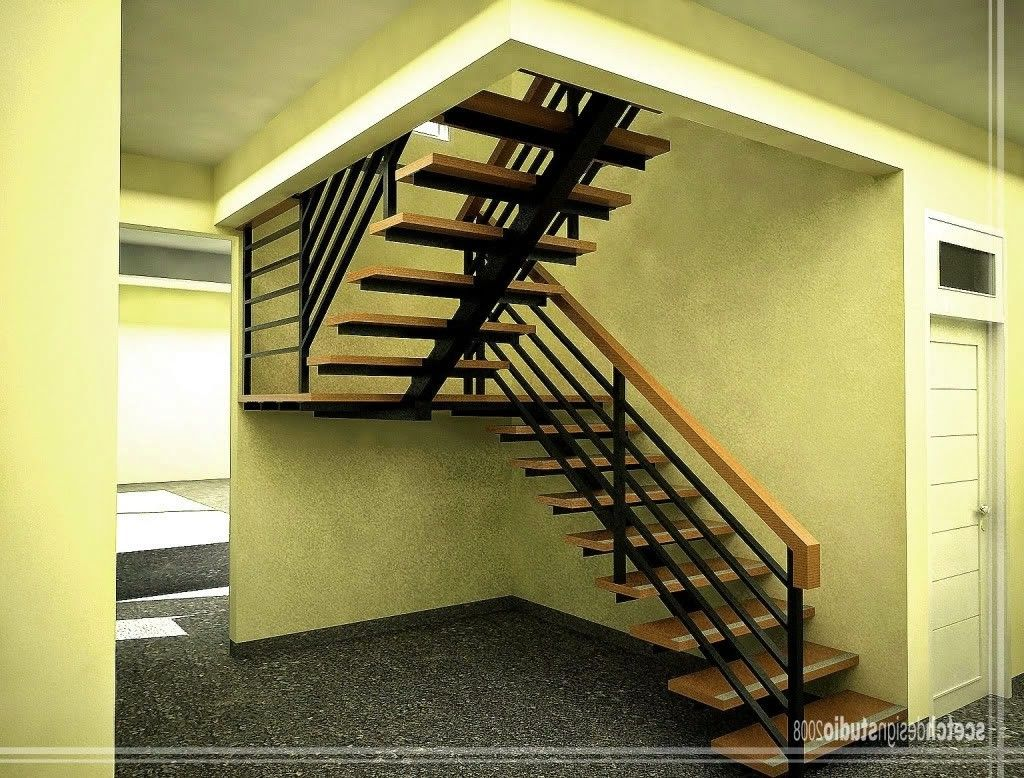 Simple Modern Stairs And Modern Under Stairs