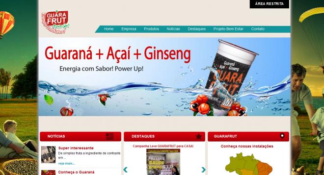 site desenvolvido para rádio guarafrut