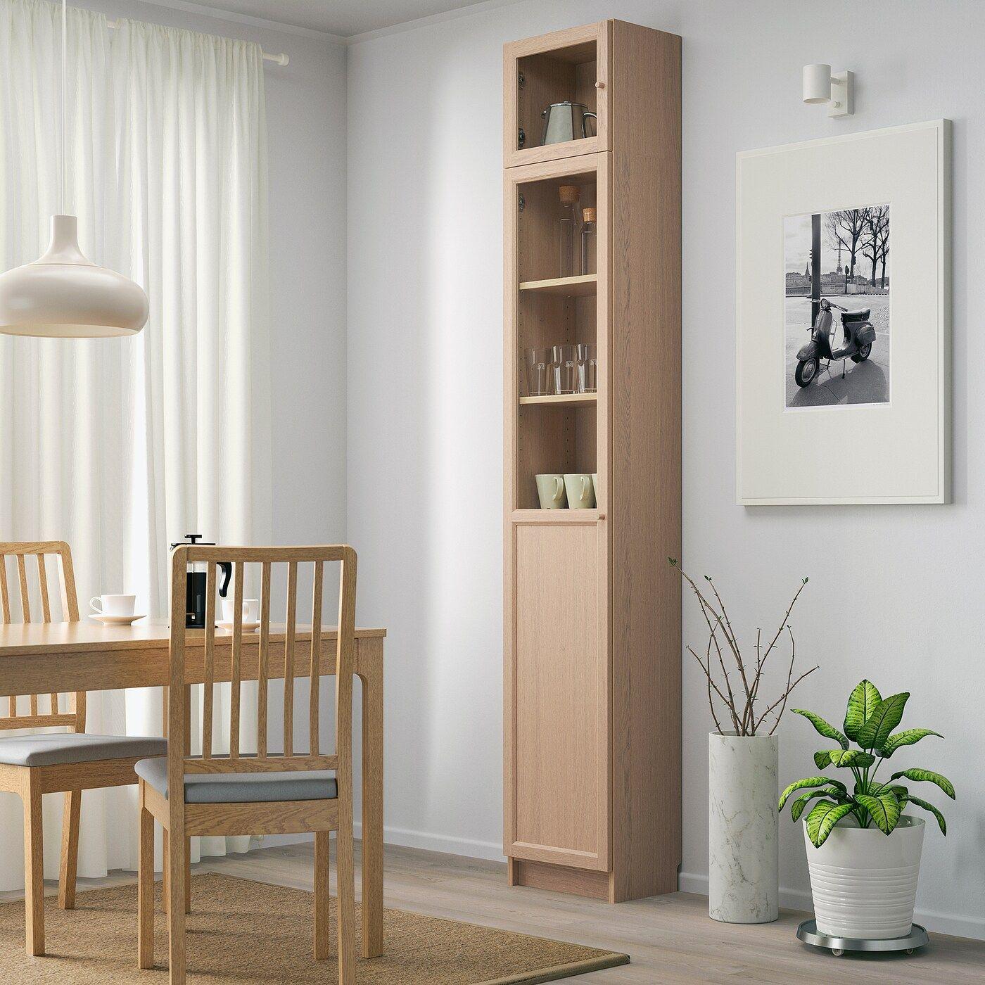 IKEA BILLY / OXBERG Bookshelf + Aufs / Panel- / Vitrtüren – Eic …