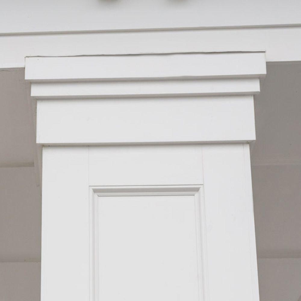 Veranda 3 4 In X 5 1 2 In X 8 Ft White Pvc Trim 6 Pack 827000004 The Home Depot In 2020 Garage Door Styles Garage Door Makeover Siding Trim