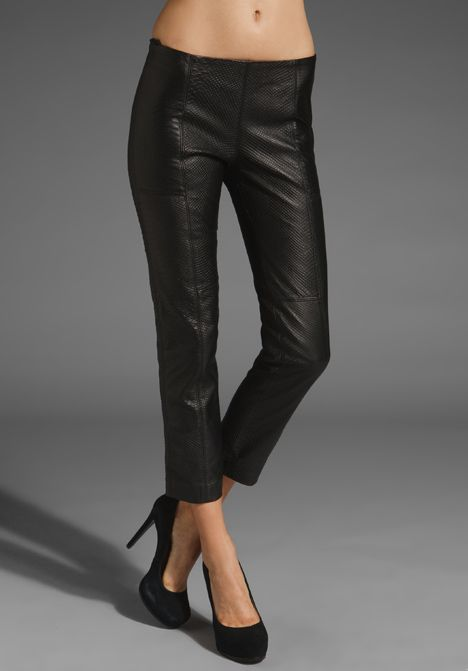 embossed leather pant