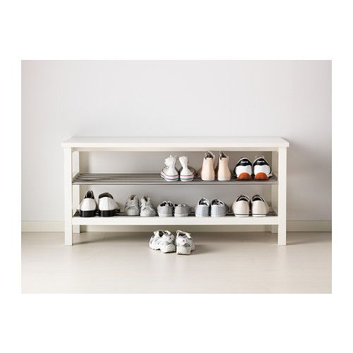 Tjusig Bench With Shoe Storage Ikea To Go Next Our Existing Rack In