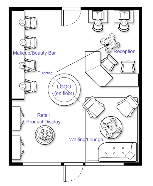 Beauty Salon Floor Plans Hair: Barbershop Design, Hair Salon