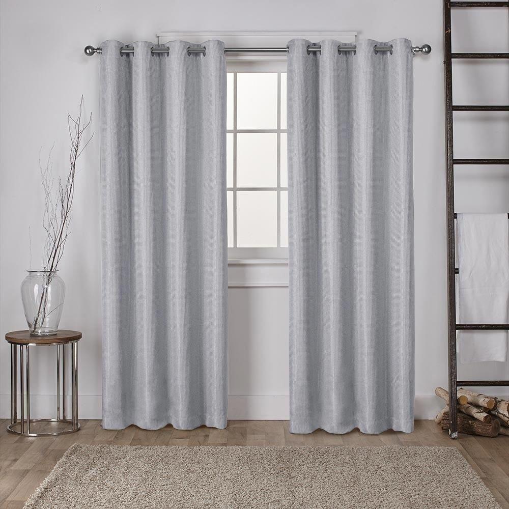 Ati Home Eglinton Woven Blackout Grommet Top Curtain Panel Pair