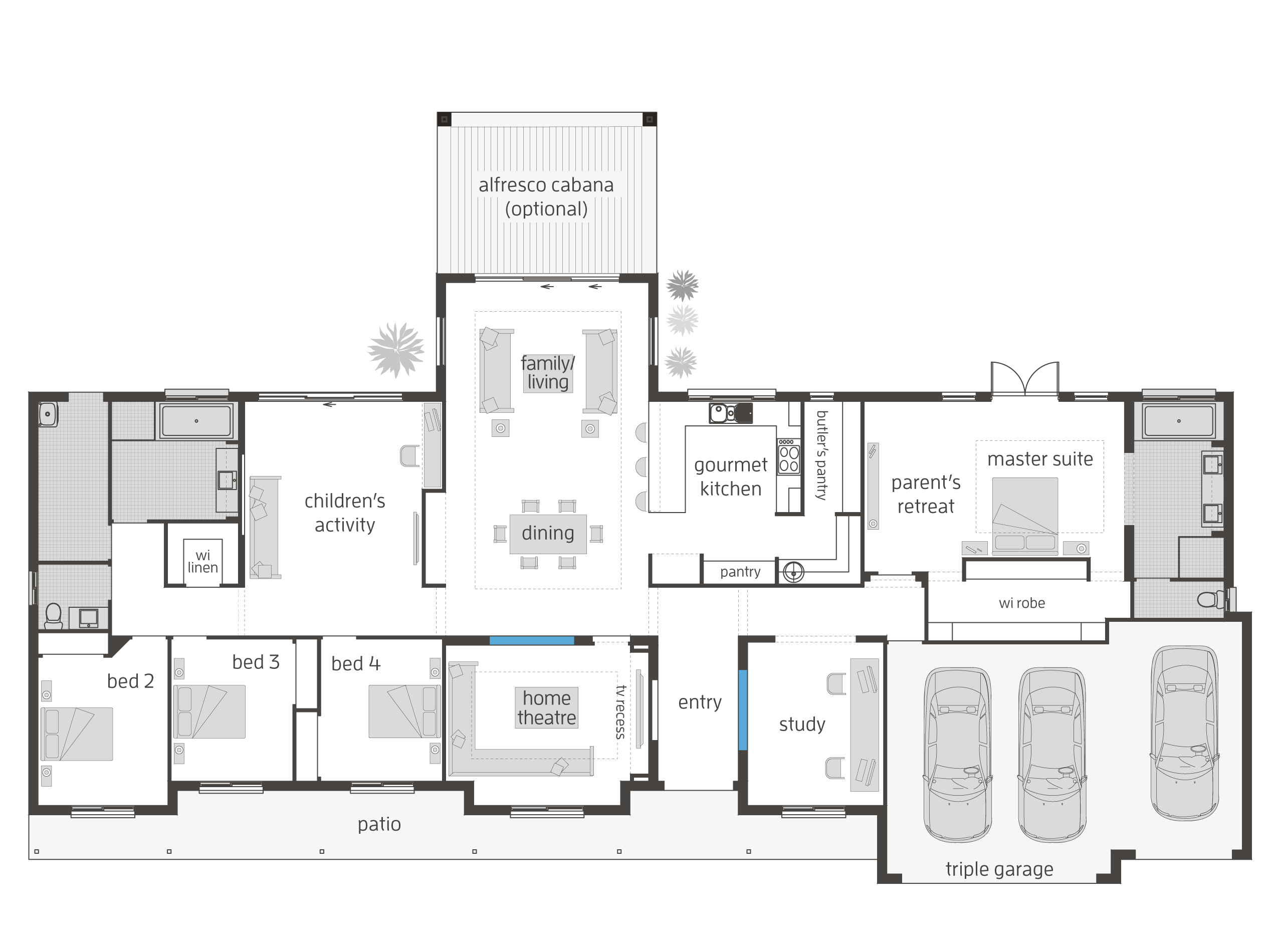 bronte executive lodge floor plan great for acreage