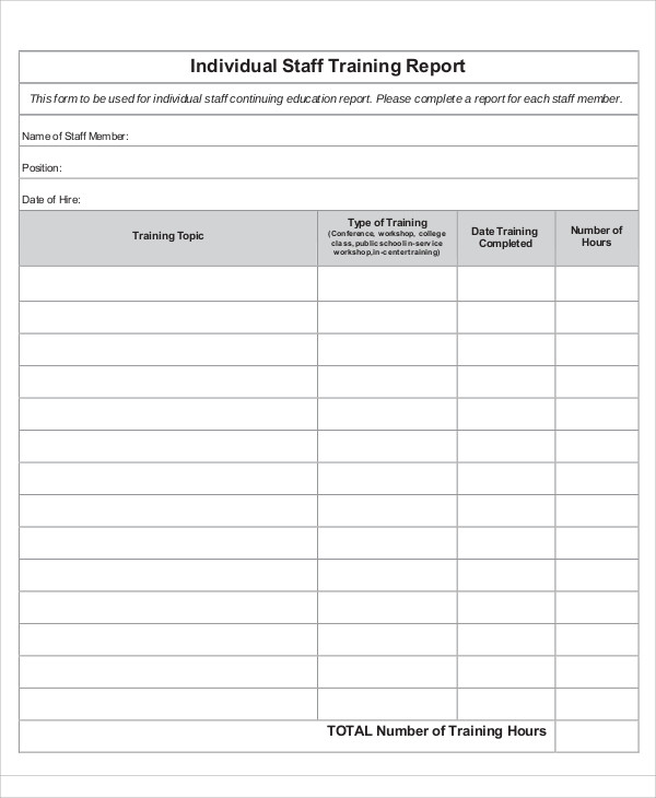 Training Report Template Format 9 Templates Example Templates Example Training Topics Report Template Staff Training