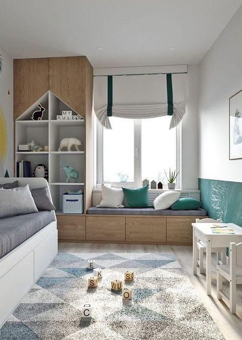 Per arredare le camerette dei bambini si può dare spazio alla fantasia e personalizzarla secondo i gusti del bambino: La Cameretta Dei Bambini Kids Bedroom Decor Bedroom Design Small Bedroom