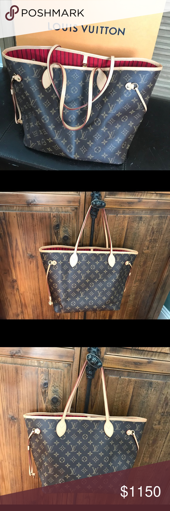 bba83350d Louis Vuitton Neverfull MM Monogram Tote Bag The most wanted classic monogram  LV Neverfull with the