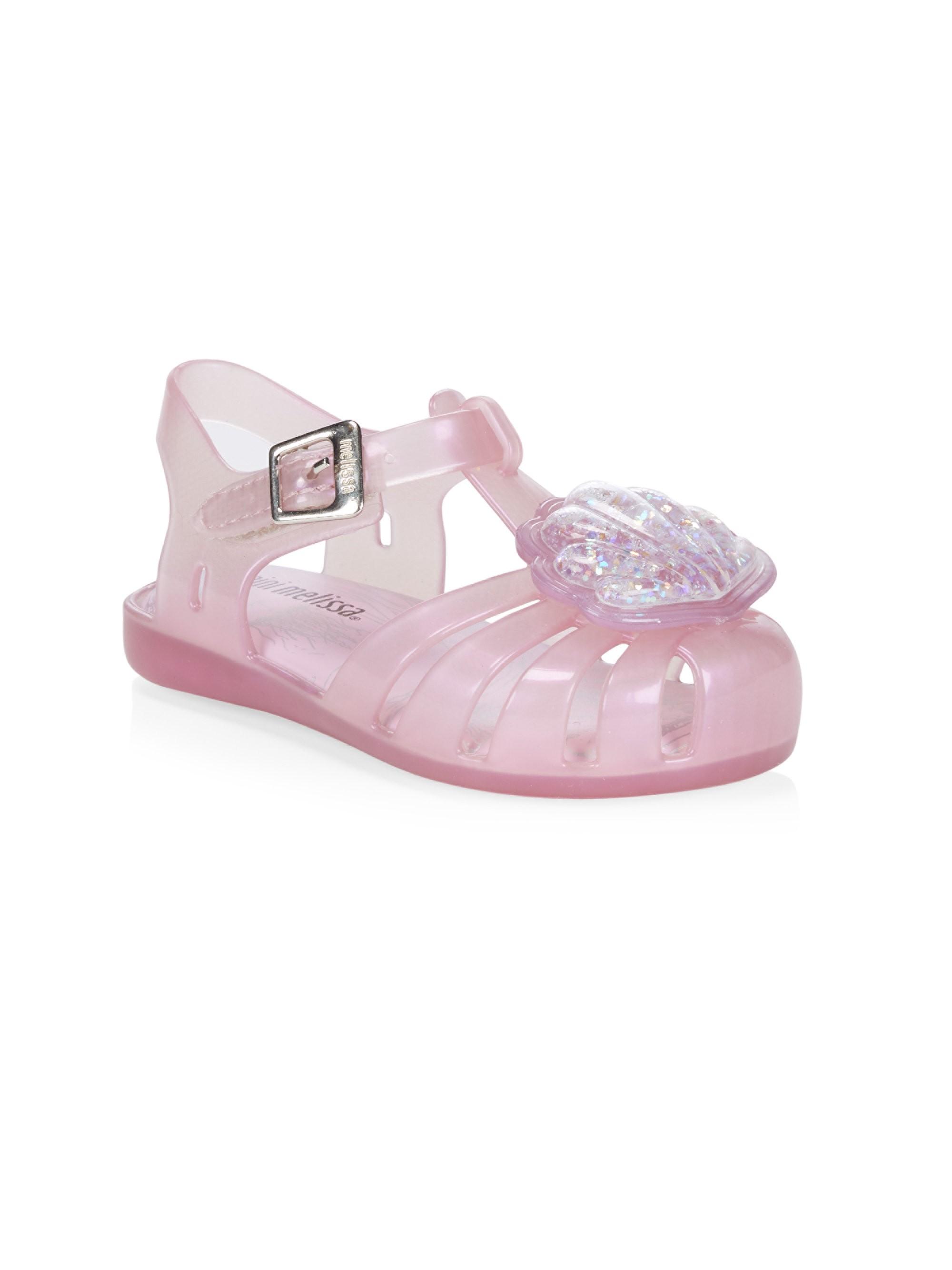 9796ef0b8bce Mini Melissa Baby s   Little Girl s Aranha Xii Shell Shoes - Lavender 10  (Toddler)