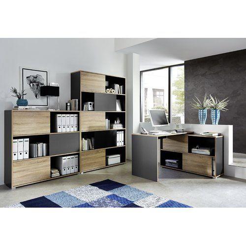Home Office Design, Shelves, Sliding Door