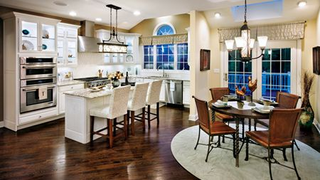 Toll Brothers Palladian Kitchen With Breakfast Nook Skinny Island
