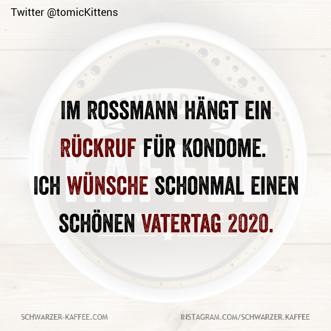 There is a recall for condoms in the Rossmann. I wish you a nice Father's Day The entry BE