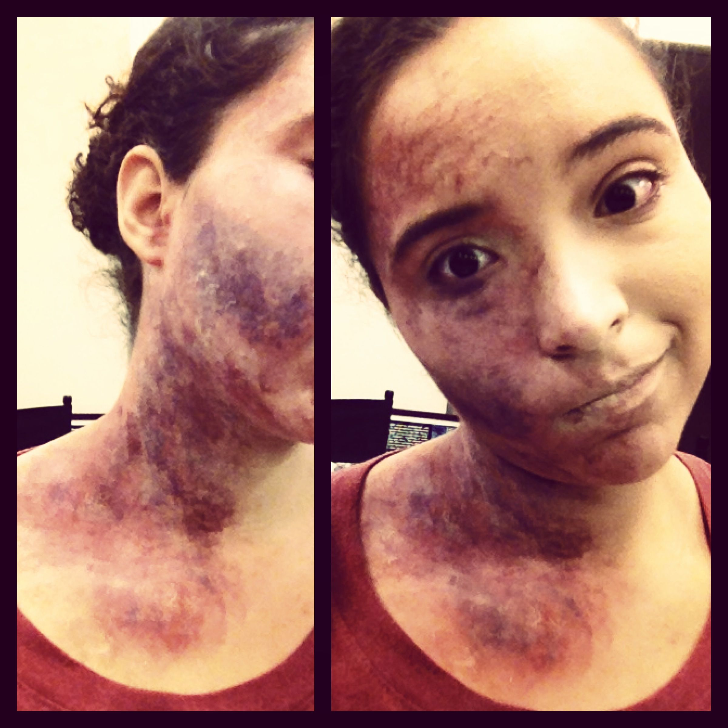 Livor Mortis Dead Makeup Face Neck Motion
