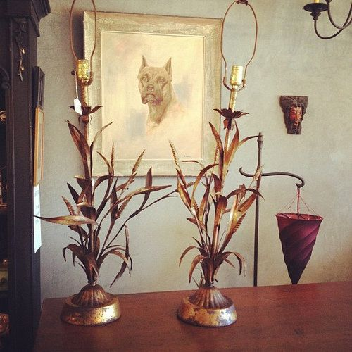 Vintage Distressed Wheat Sheaf Table Lamps So Cool Table Lamp Wheat Sheaf Lamp