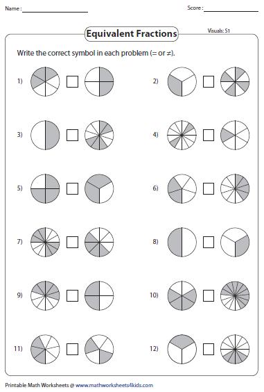 Equivalent Fraction Worksheets Math Fractions Worksheets Fractions Worksheets Fractions