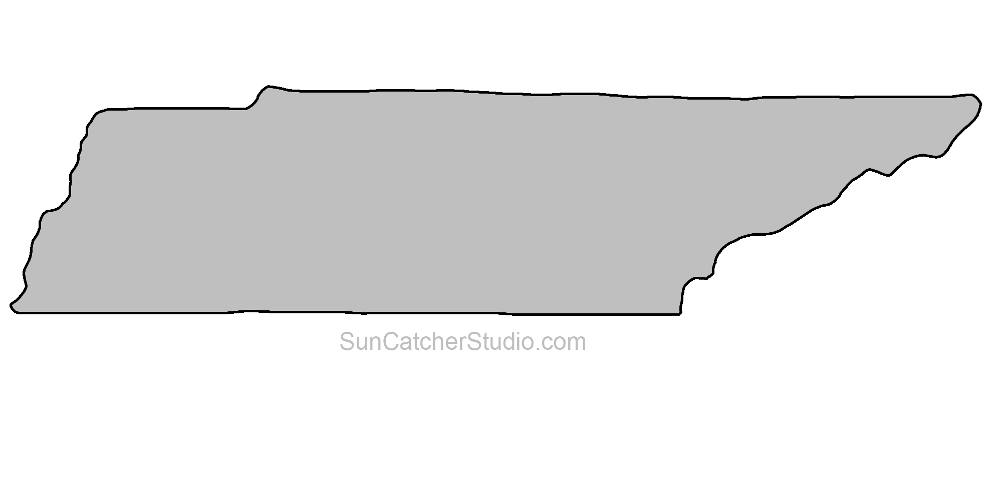 Tennessee Map Outline Png Shape State Stencil Clip Art Scroll Saw Pattern Printable Downloadable Free Template Tennessee Map Tennessee Outline Map Outline