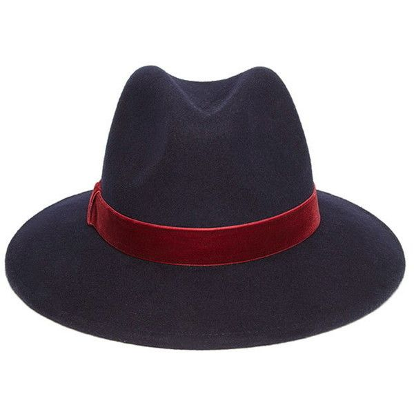 fca37c2d48485 Forever 21 Women s Velvet Band Wool Fedora ( 12) ❤ liked on Polyvore  featuring accessories