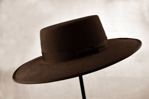 f83083c1de9e The Bolero hat has a long and interesting history. It became famous as the  hat of Zorro but today serves as a very interesting addition to any
