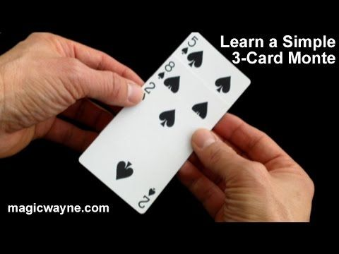Easy Magic Trick Learn A Simple 3 Card Monte Youtube Magic