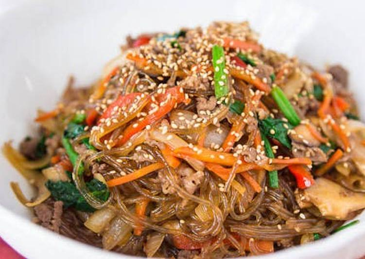 Resep Japchae Bihun Ala Korea Oleh Gabriella Resep Resep Masakan Asia Masakan Asia Resep Masakan