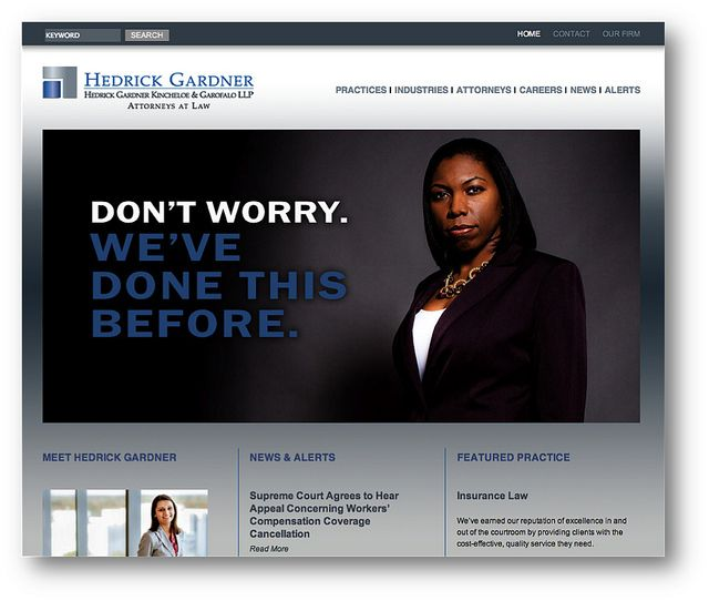 Hedrick Home Page Law Firm Website Design Law Firm Marketing