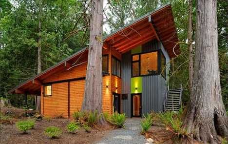 Friendly House Plans on Eco Friendly Homes And Cabins Small And