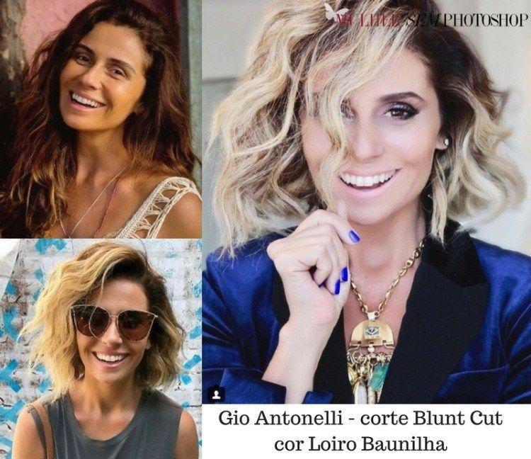 caccd8684 Cabelo Giovanna Antonelli Luzia - novela Segundo sol - cor e corte ...