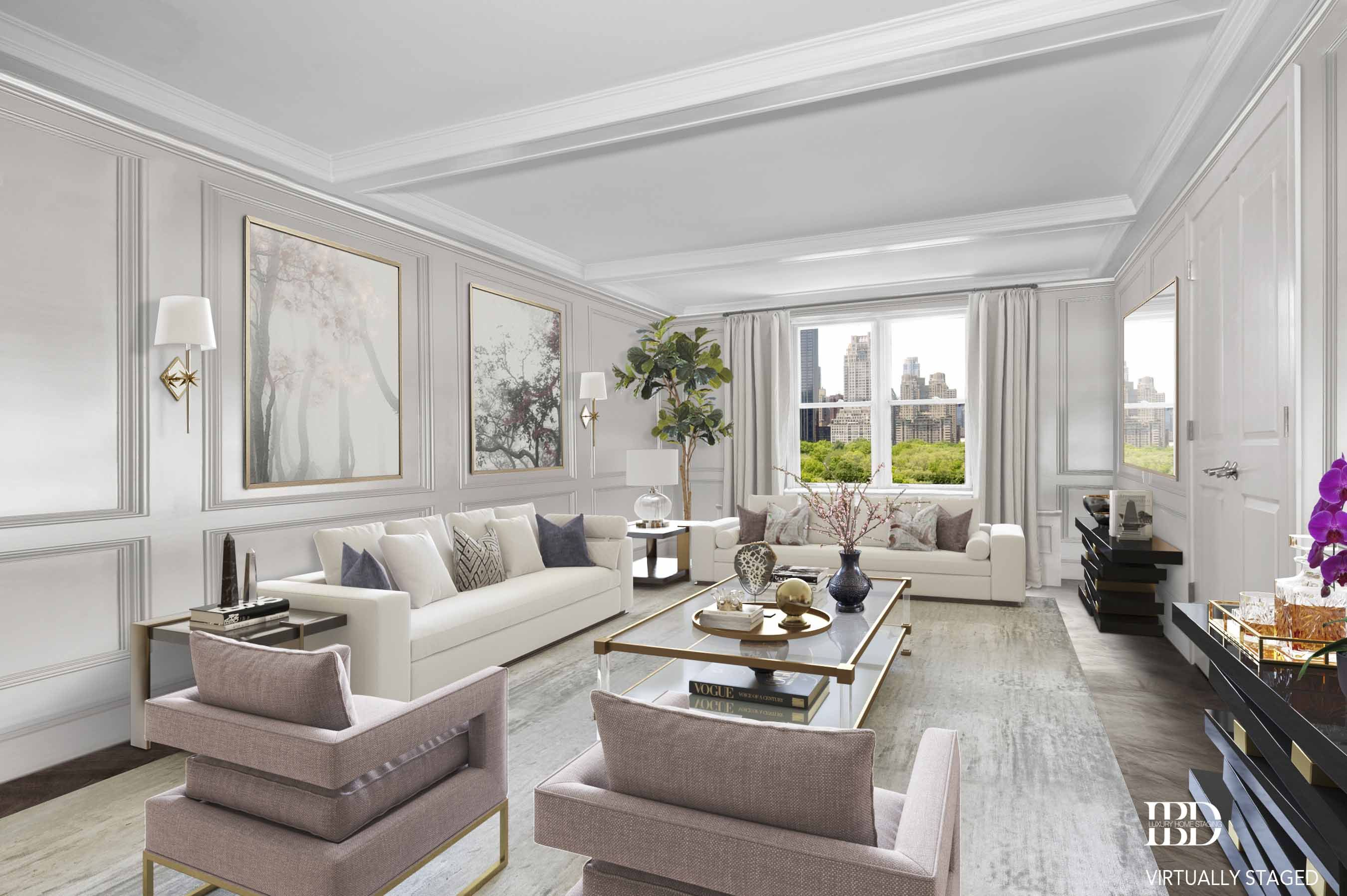 Ultra Luxury Virtual Staging Living Room Home Staging Ideas 2019