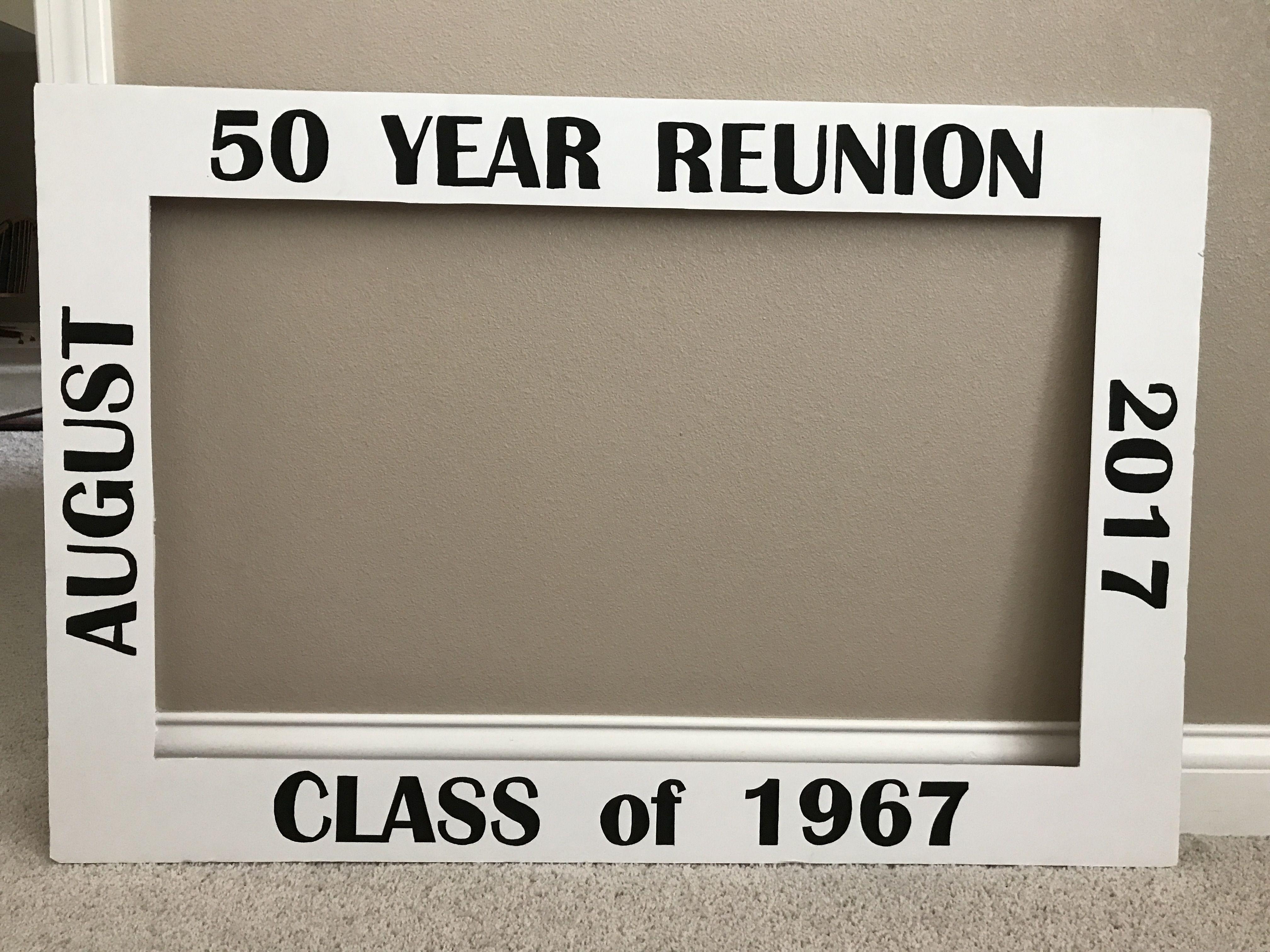 50th Class Reunion Photo Frame Class Reunion Class Reunion