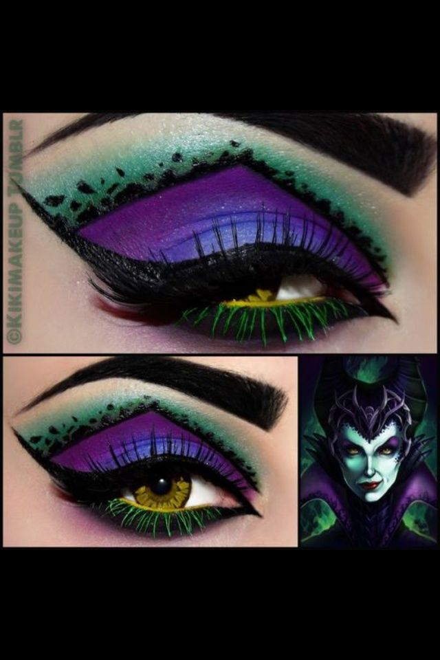 disney eye makeup disney melificent eye make up badass makeup make up pinterest. Black Bedroom Furniture Sets. Home Design Ideas