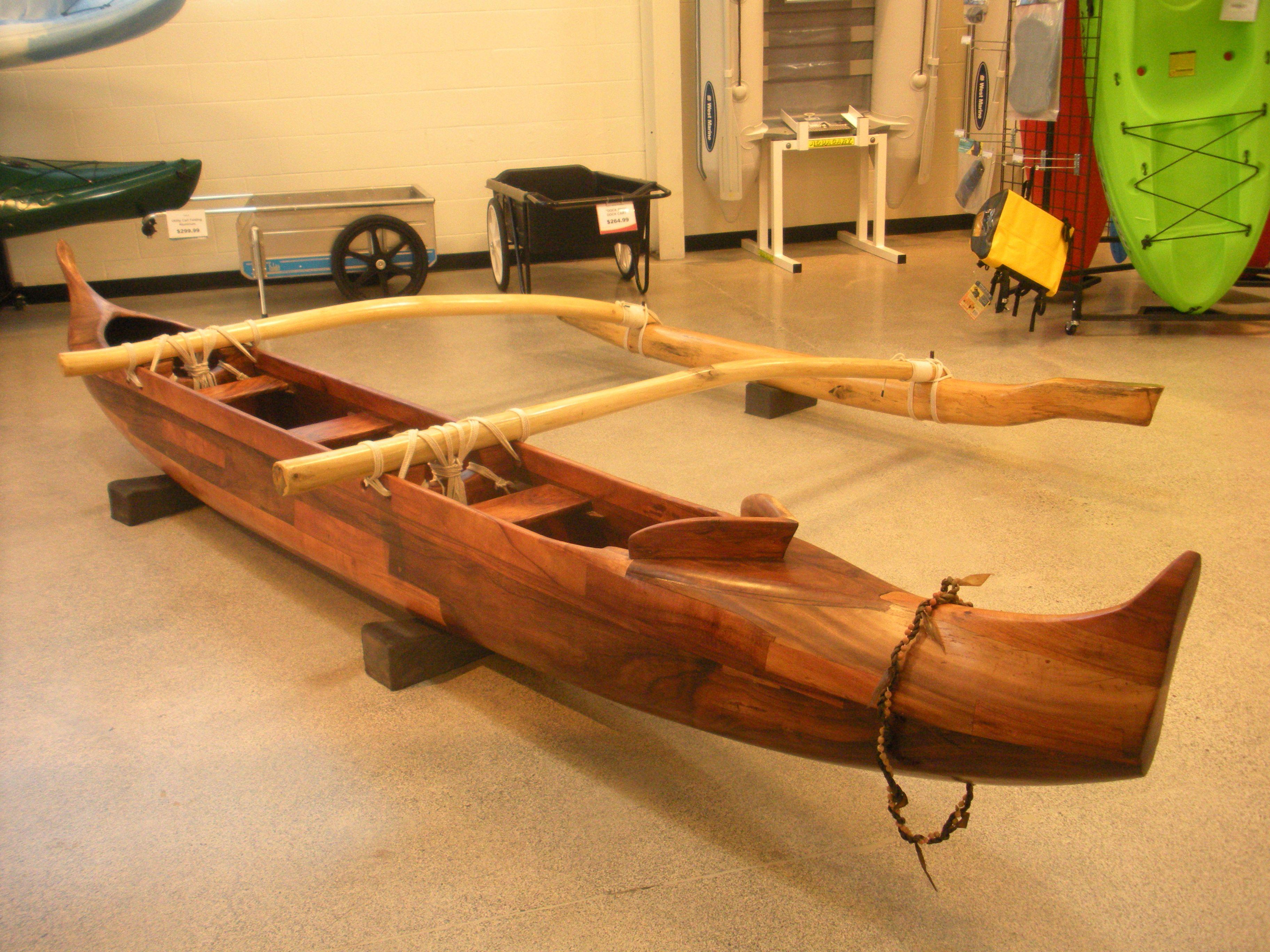 C Lion Outrigger Canoe Koa Wood Outrig...