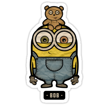 minions bob chibi minions stickers only 3