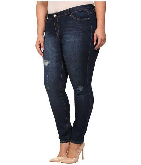 Mynt 1792 Plus Size Distressed Skinny Jeans Medium Blue - Zappos.com Free Shipping BOTH Ways