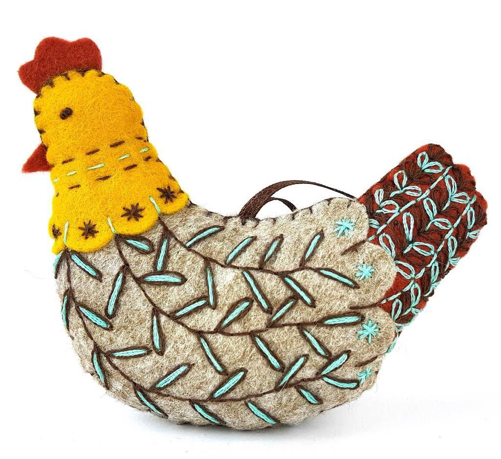 12 Days Of Christmas French Hen Felt Mini Kit Mini Sewing Kit 12 Days Of Christmas Felt Crafts