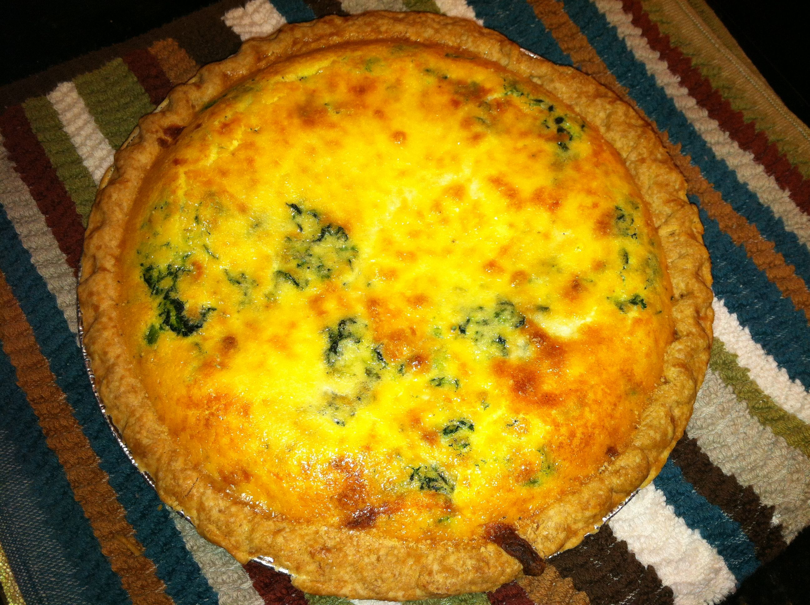 Easy 7 Min Prep Quiche 30 Min Bake Only A Few Ingredients It S Amaze 1 Pint Heavy Cream 1 Block Of Chopped Frozen Spinach Thaw With Images Food Frozen Pie Crust Eat