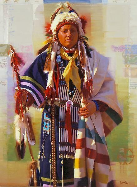 A-Pa-Ni, Wife Of Brave Eagle ~ by Stan Davis