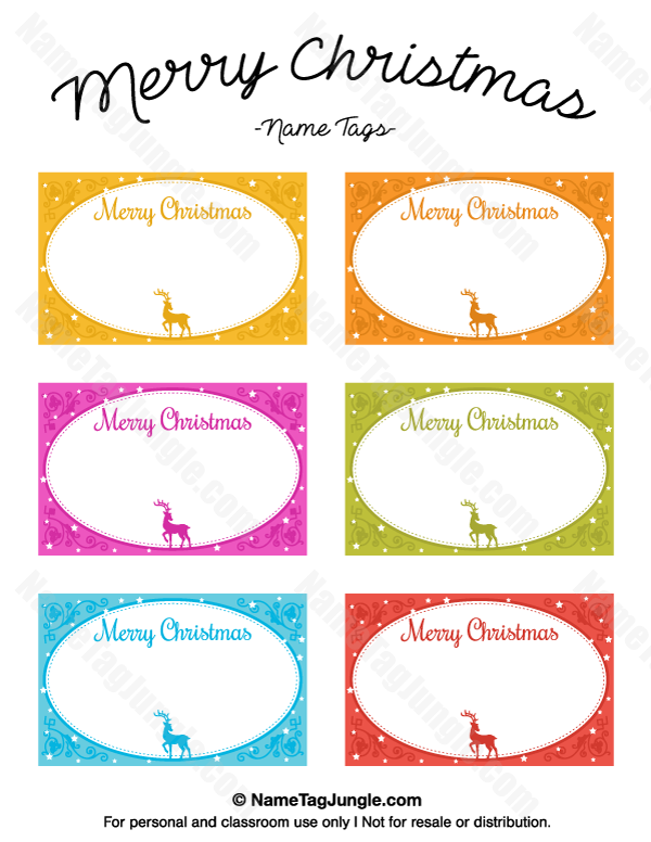 free printable merry christmas name tags the template can also be