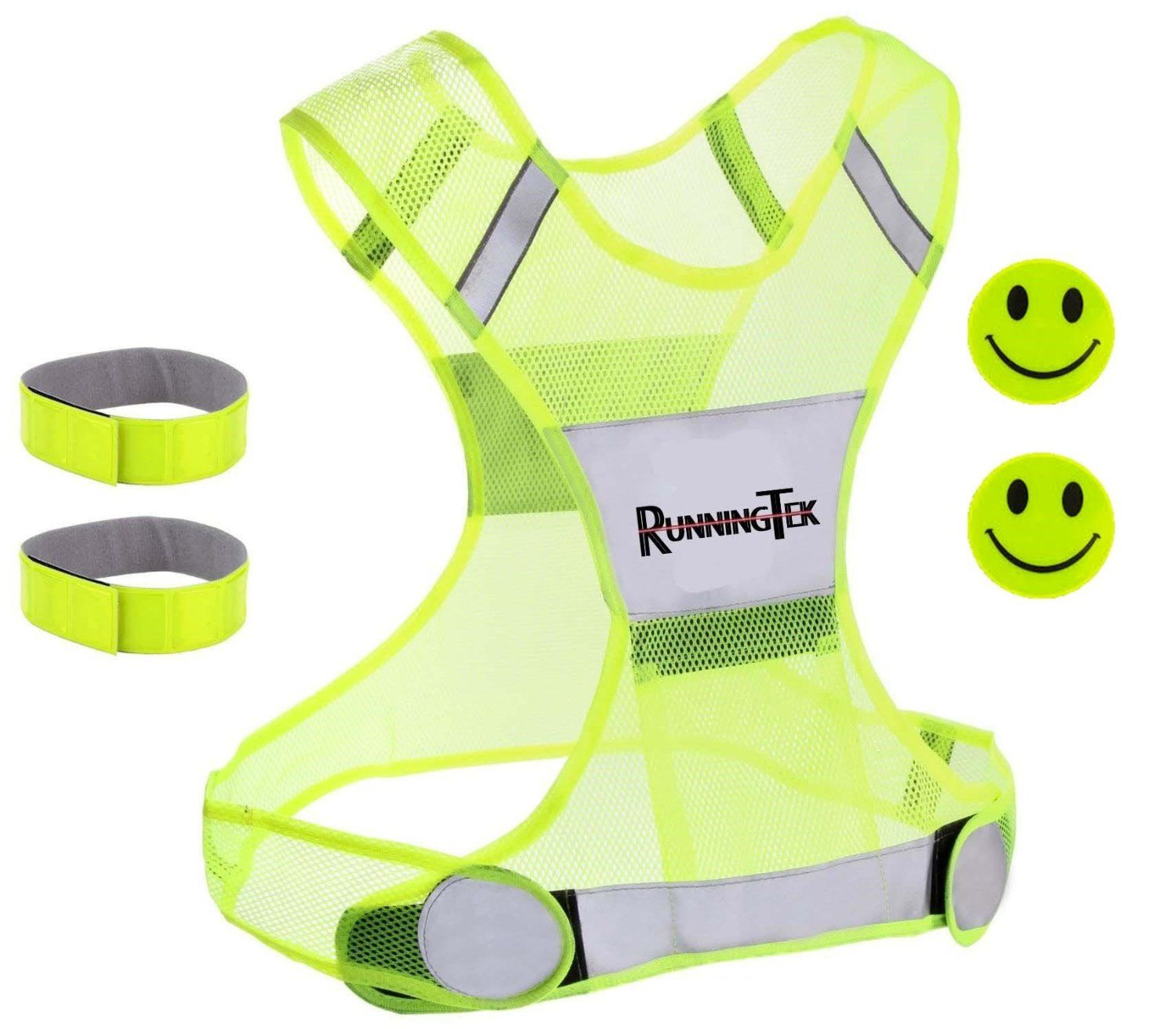 Safety Reflective Running Gear for Men and Women for Night Running Reflective Tape Bands Clothing HiVisible Reflective Vest for Walking High Visibility Vest Reflective Running Vest
