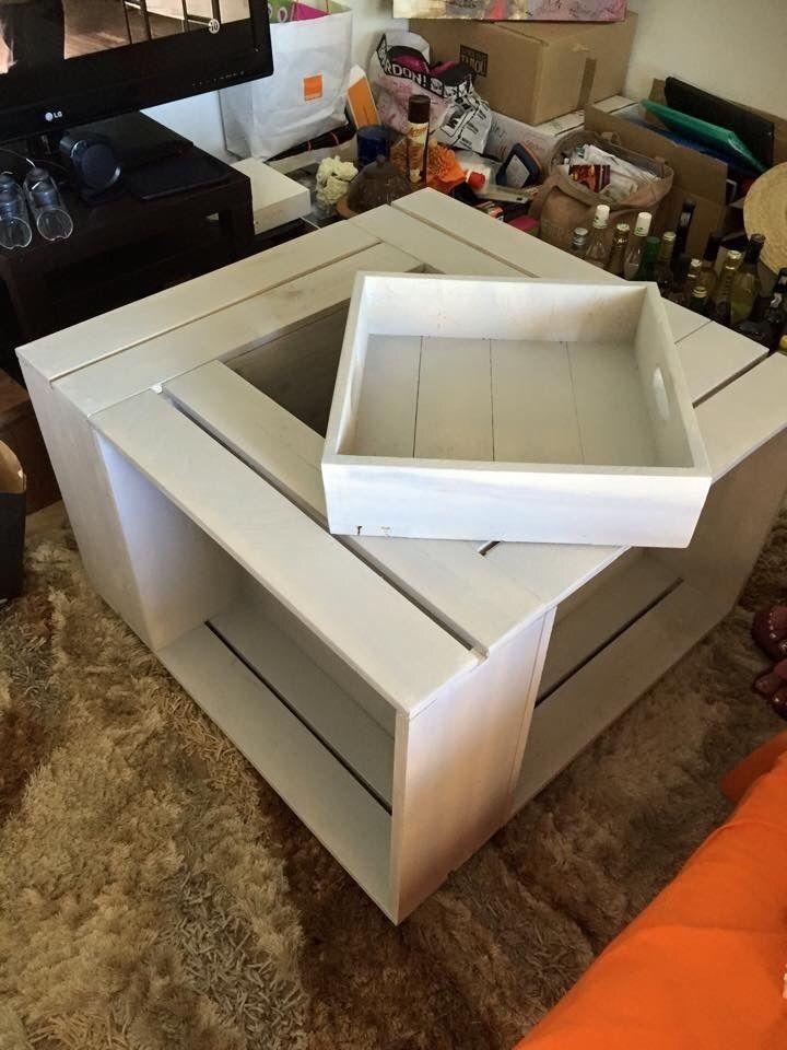 kaz 39 palette table basse bar et rangements en bois de palette meubles fabriques en palettes. Black Bedroom Furniture Sets. Home Design Ideas