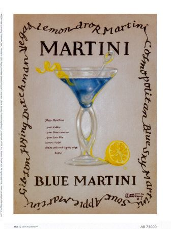 Blue Martini - Mike and Steph's signature drink -  themarriedapp.com hearted <3