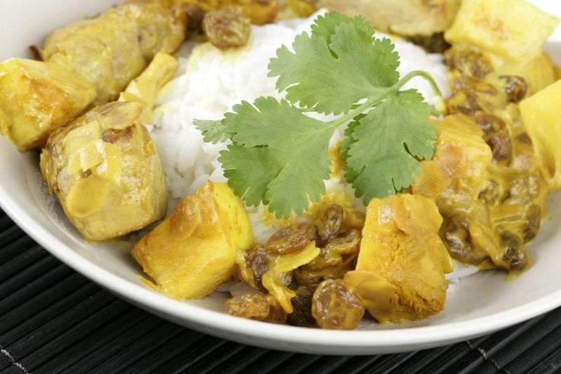 Ragoût de porc sucré-salé aux pommes Ariane accompagné de riz ! A vos fourneaux, c'est délicieux !