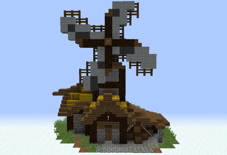 Medieval Village Windmill - Grabcraft