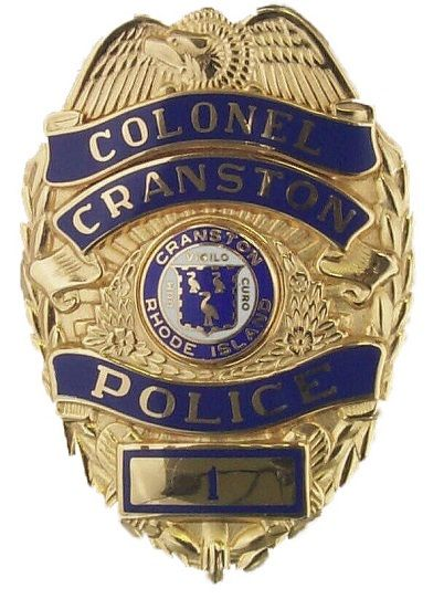 Cranston Pd Ri Police Badge Fire Badge Police Patches