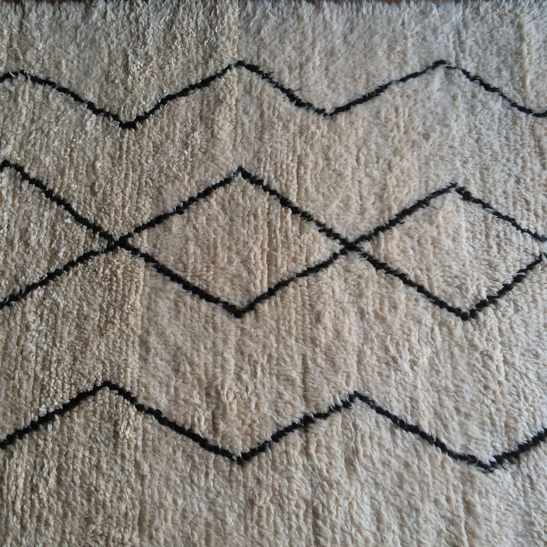 Beni Ouarain rug, nice and cosy, at www.buenapieza.com