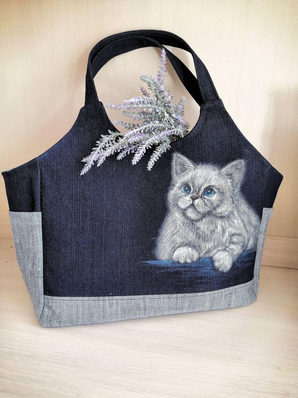 Bag Cat Cat Tote Bag Cat Lover Cat Lady Cute Cat Cat Lover Etsy In 2020 Cats Tote Bag Cat Tote Cat Lovers