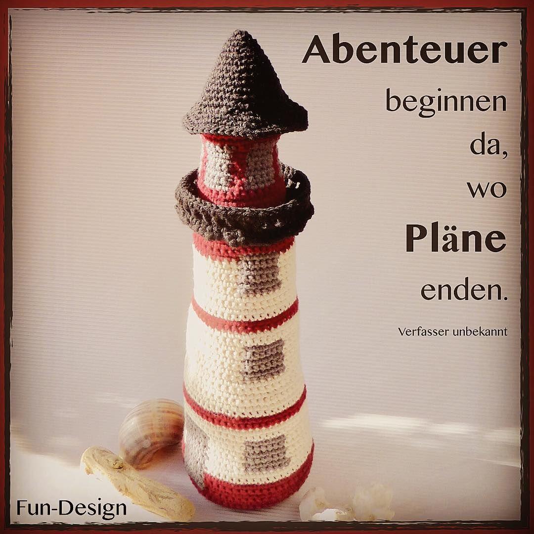 Leuchttürme sind cool... #häkeln #Häkelanleitung #Leuchtturm ...