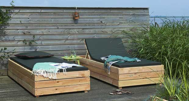 DIY déco : un transat en bois à fabriquer pour le jardin